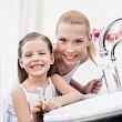 здоровые зубы у ребенка и взрослого при правильной чистке зубов